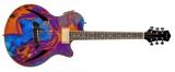 Гитара с рисунком на корпусе : Девушка-Неон