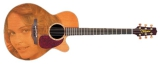 Интерьерная гитара :  Женское лицо