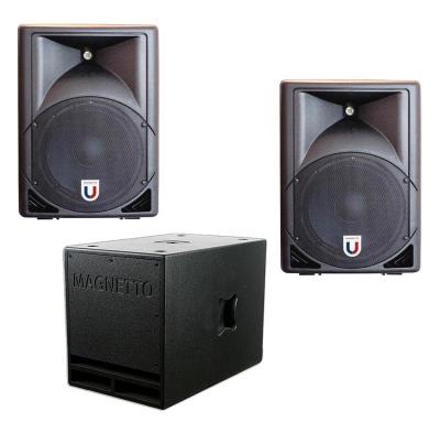 Звукоусилительный комплект 1400 ватт  (400 на канал плюс 600 сабвуфер)