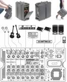 Звукоусилительный комплект 500 ватт (250 на канал)
